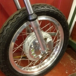 Norton Fastback Wheel - restored by RM Motorcycles Beverley